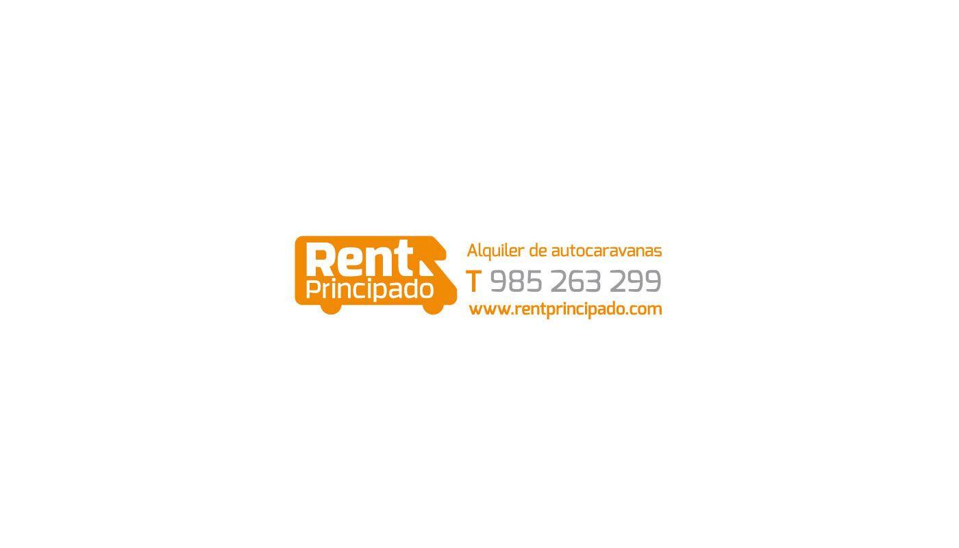 Diseño gráfico de pegatinas para la empresa Rent Principado
