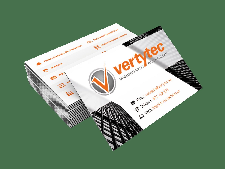 Diseño de tarjetas Vertytec Gijón