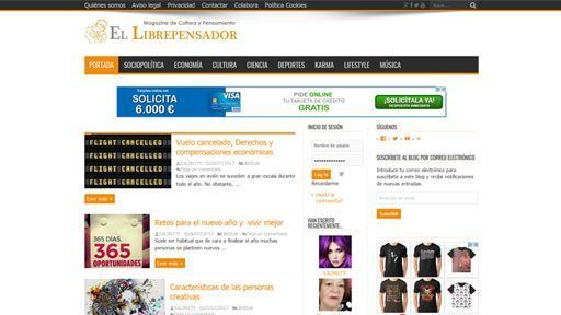 el librepensador web preview