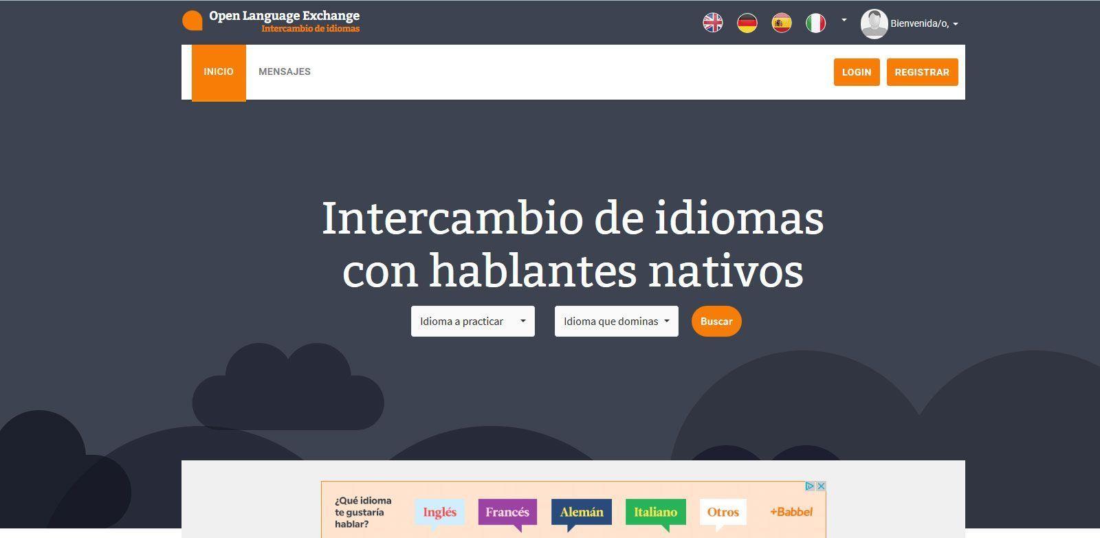 open language exchange web