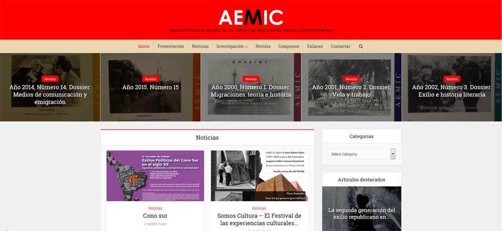 Diseño WordPress de portal y revista Aemic