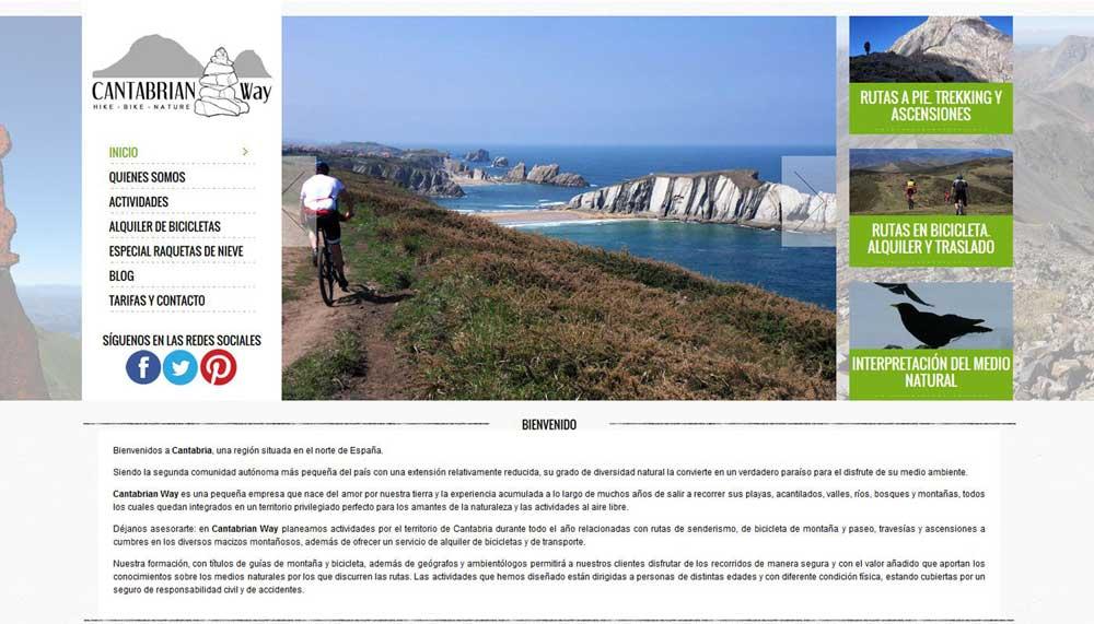 Diseño web Cantabrian way