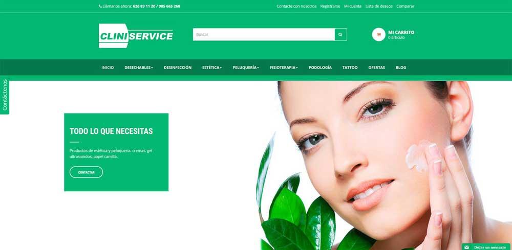 Diseño web Clini Service