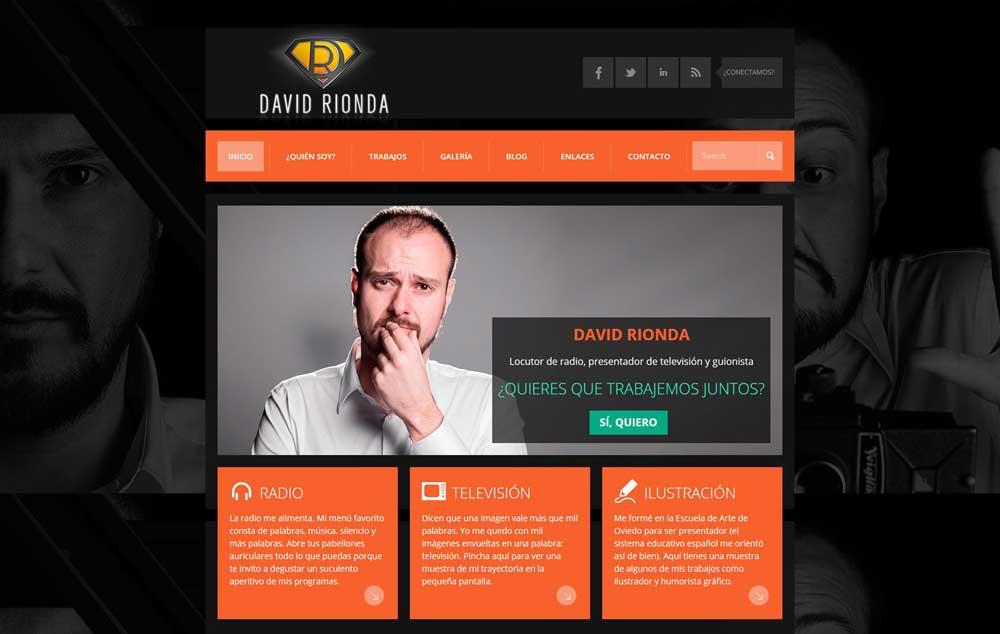 Diseño web David Rionda