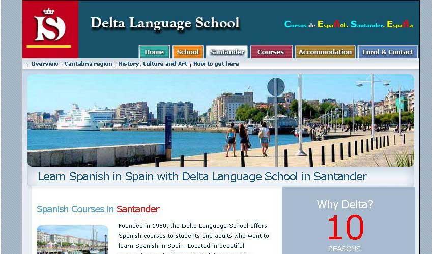 Diseño web Delta Lang