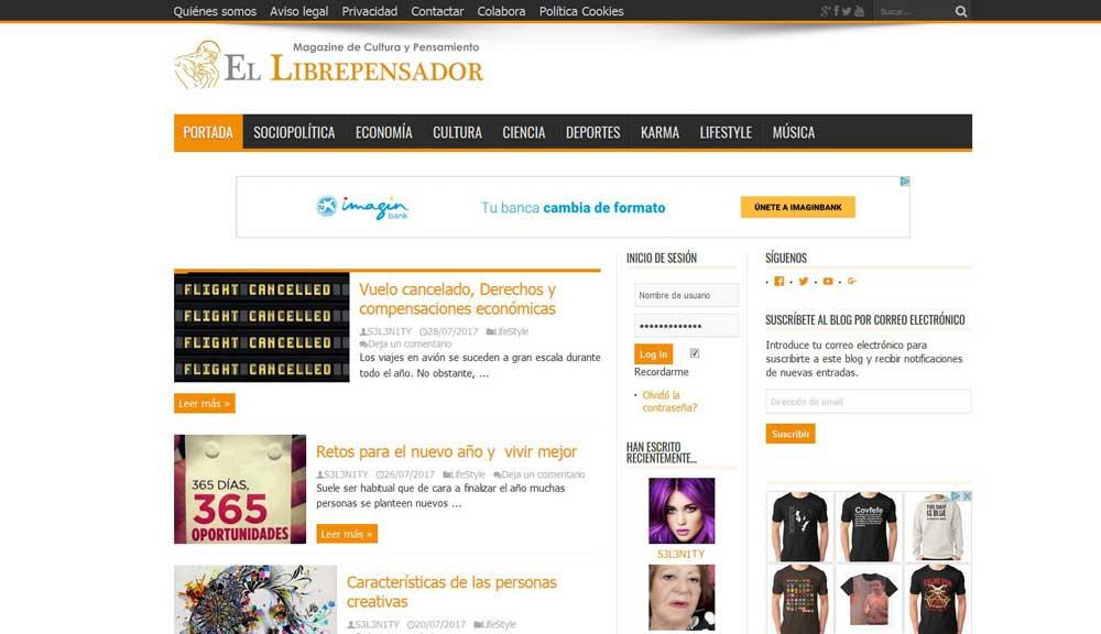 Diseño web El Librepensador