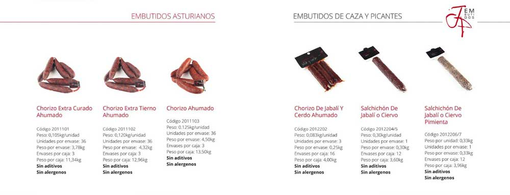 Diseño de catalogo JP Embutidos