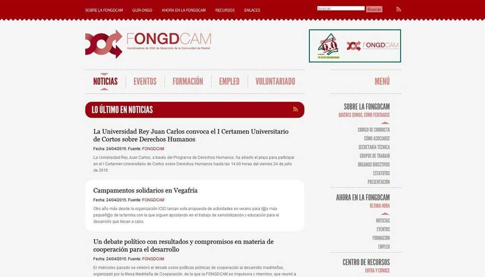 Diseño web Fongdcam