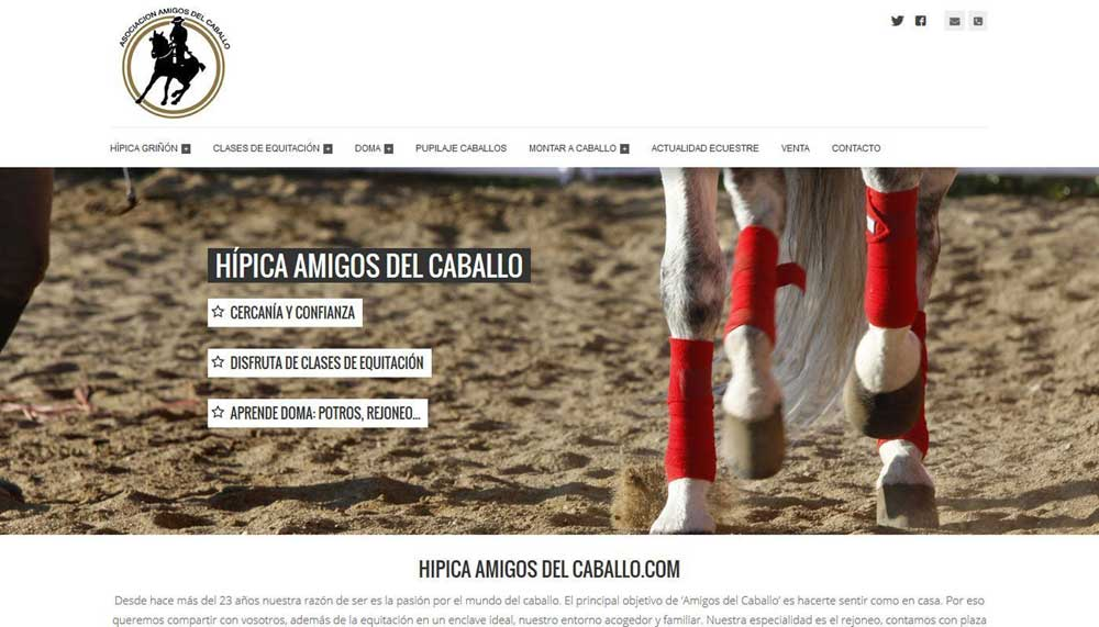 Diseño web Hípica amigos del caballo