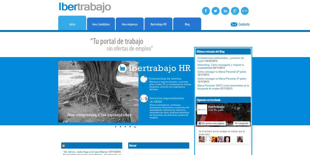 Diseño web Ibertrabajo
