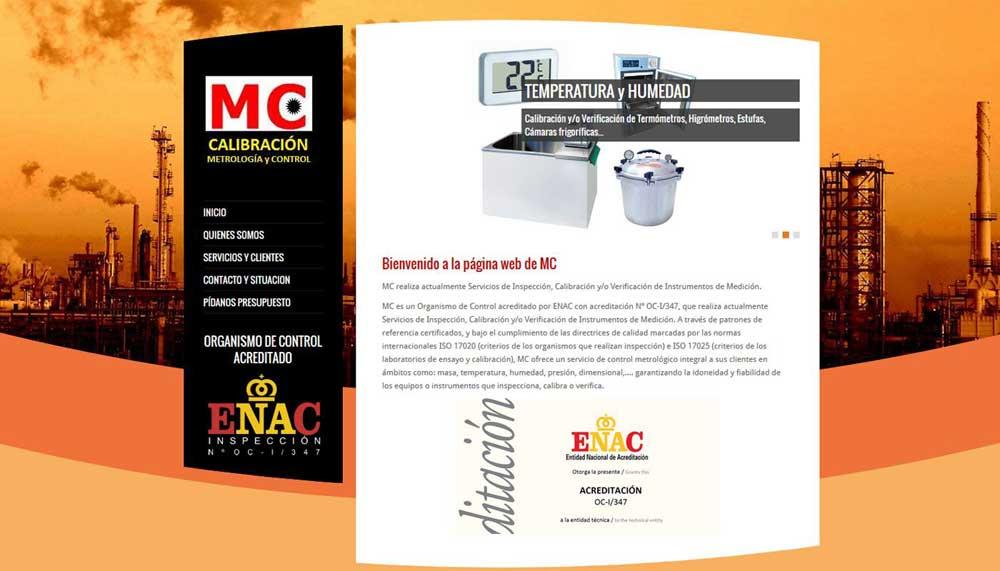 Diseño web MC-calibración