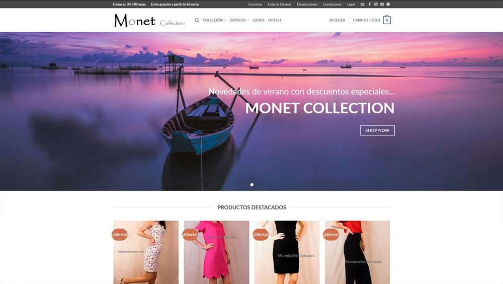 Diseño web Monet collection