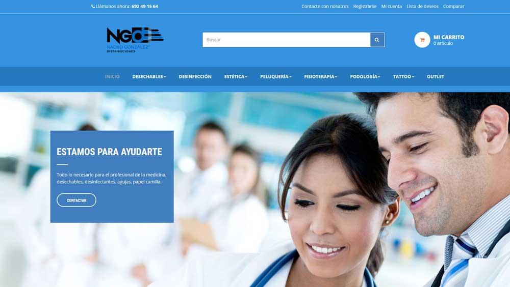 Diseño web Nacho distribuciones
