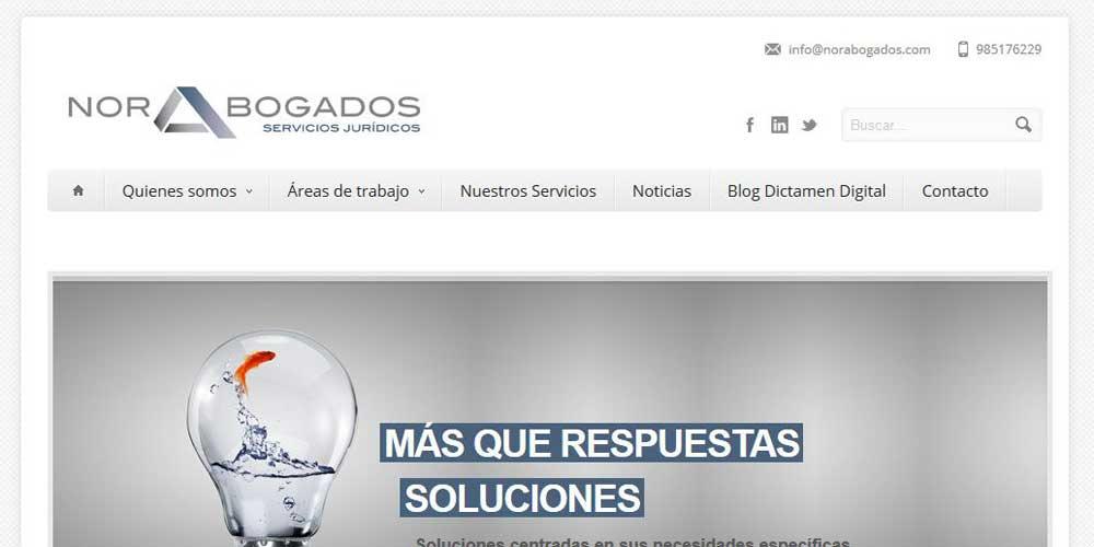 Diseño web Norabogados