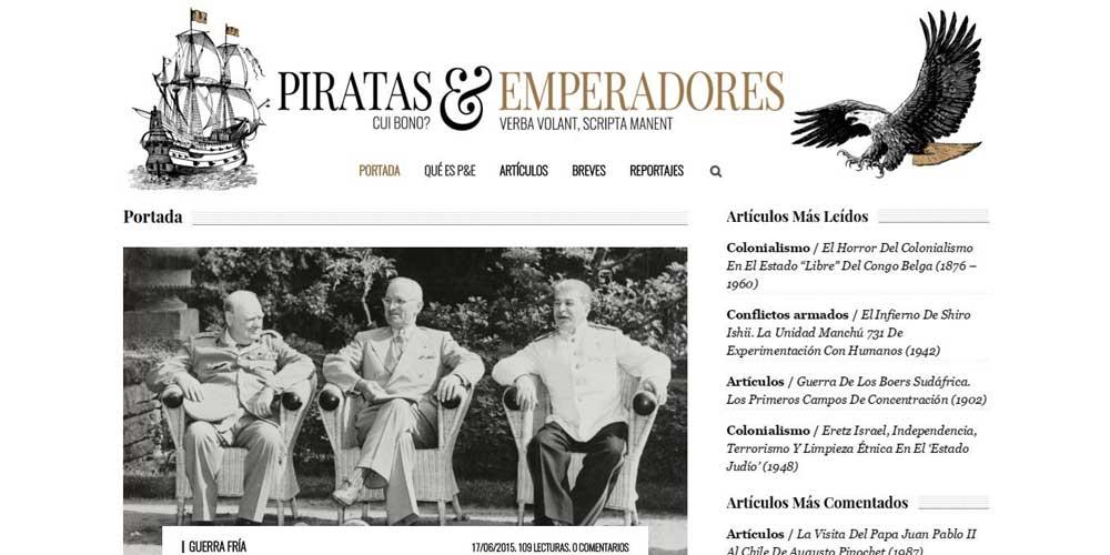 Diseño web Piratas y emperadores 2016