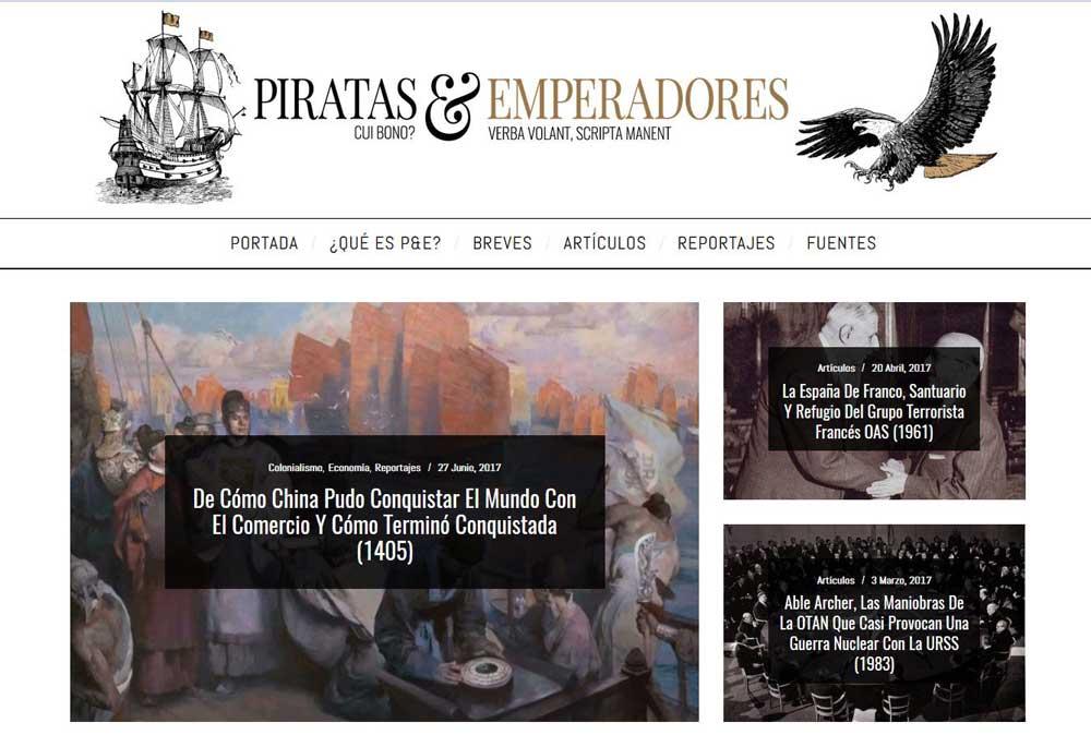 Diseño web Piratas y Emperadores