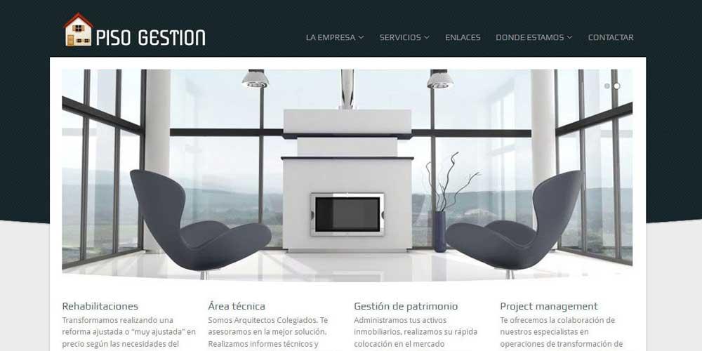 Diseño web Piso Gestión