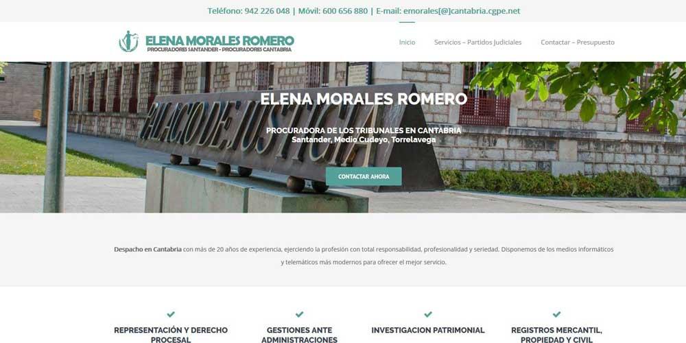 Imagen de diseño de la página web Procuradores Cantabria