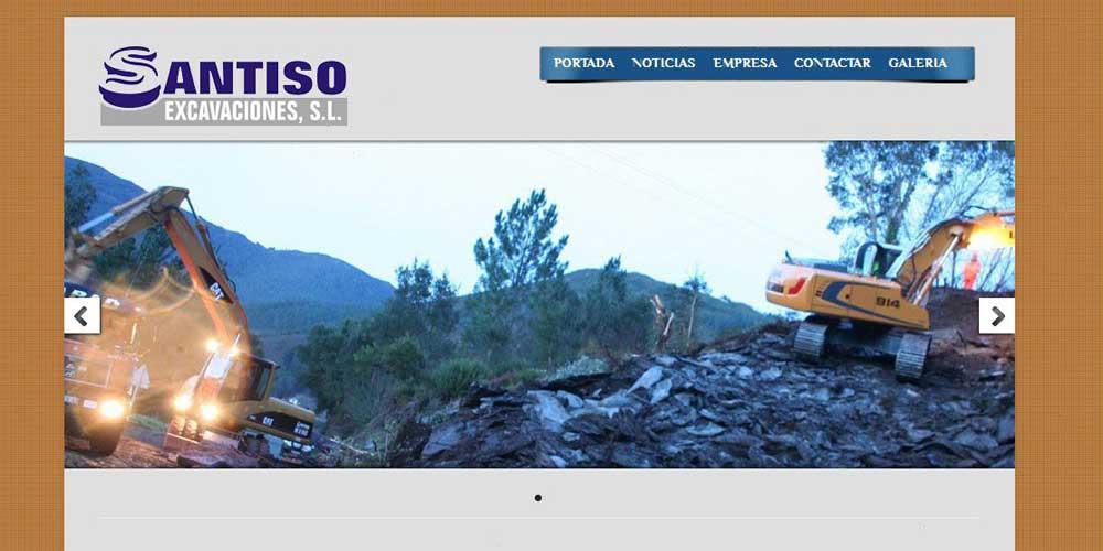 Diseño web Santiso excavaciones 2012