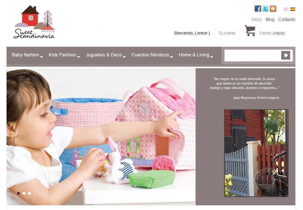 Diseño web Sweet Scandinavia