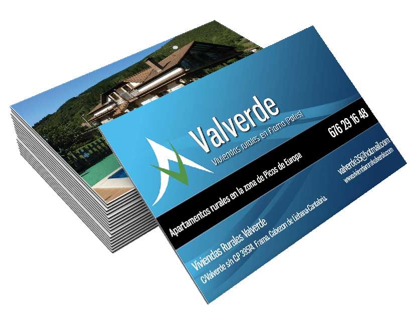 Diseño de tarjeta Viviendas Valverde