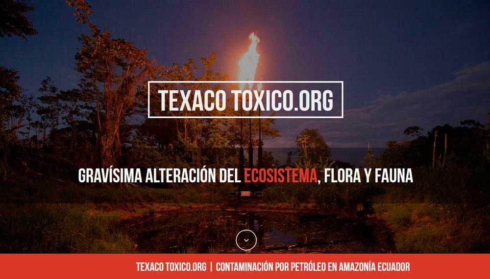Diseño web Texaco Tóxico