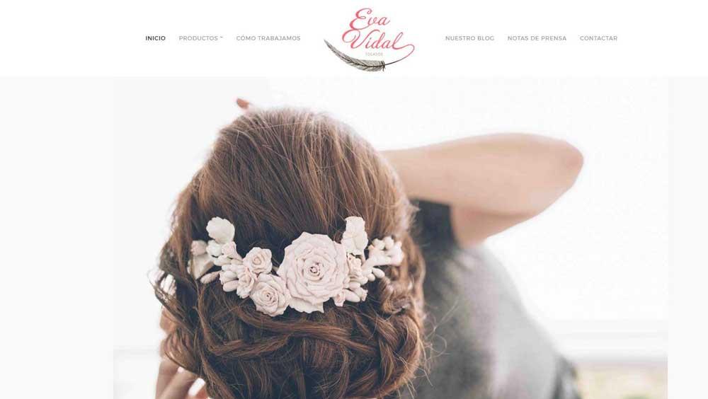 Diseño web Tocados Eva Vidal