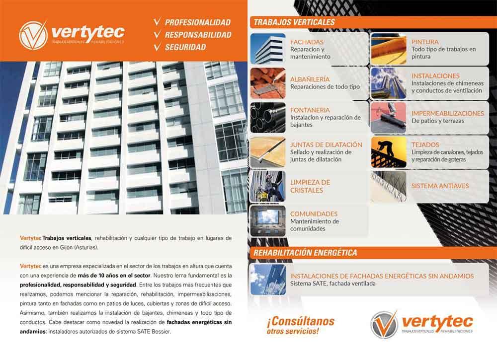 Diseño de folleto Vertytec