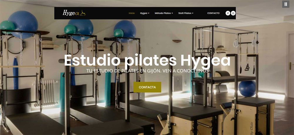 Web Estudio Pilates Hygea