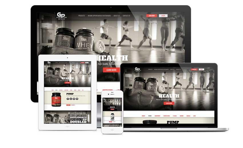 Ejemplo de diseño web de 2014