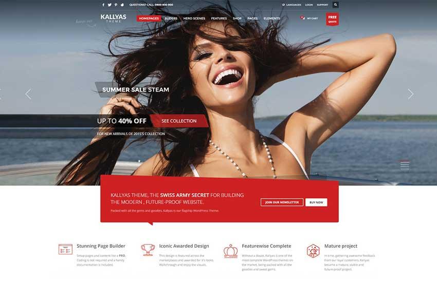 Ejemplo de diseño web de 2016