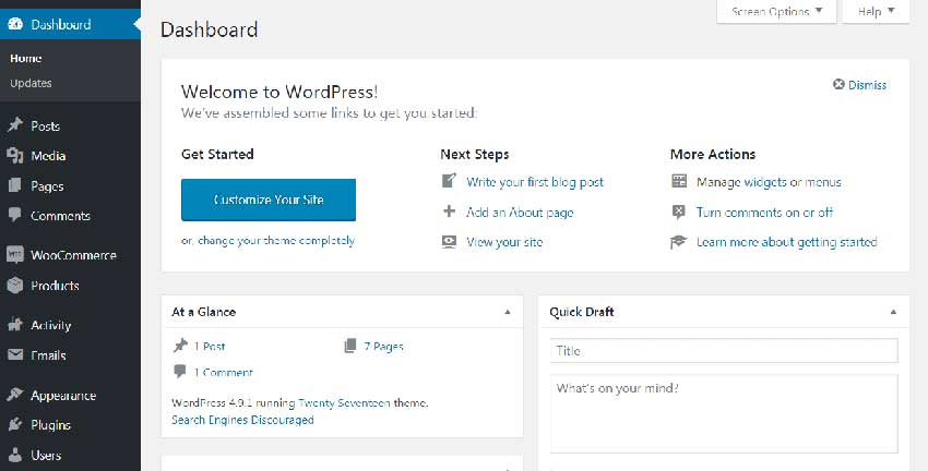 Administrador de WordPress