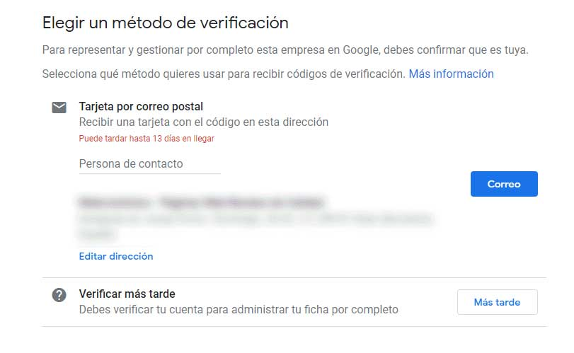Verificar cuenta Google My Business