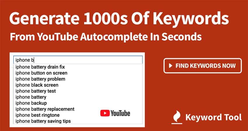 Generador palabras clave You Tube