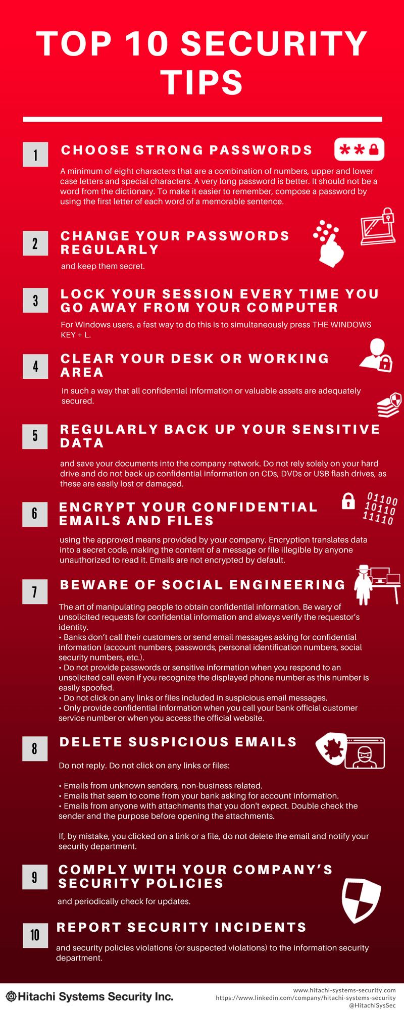 10 recomendaciones de seguridad en Internet