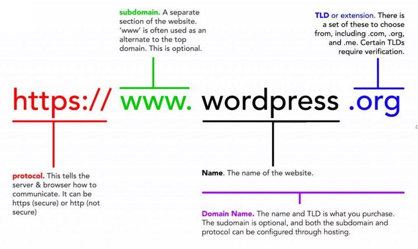 Partes de un dominio