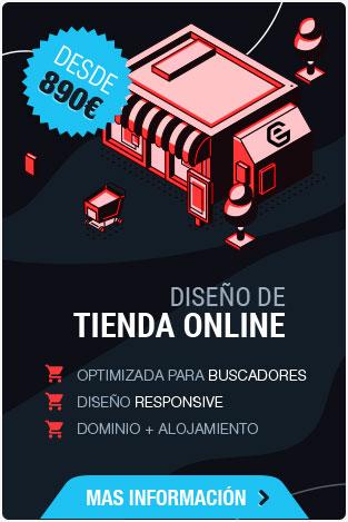 Diseño de tienda online desde 890 euros