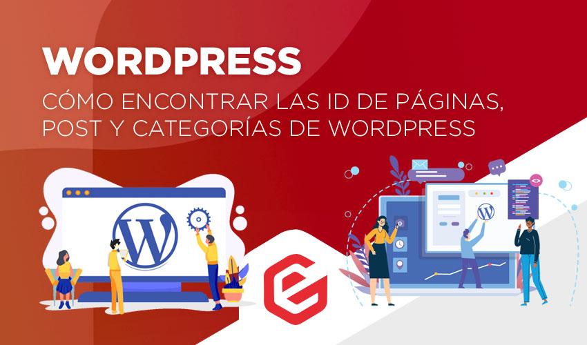 Cómo encontrar las ID de páginas, post y categorías de Wordpress